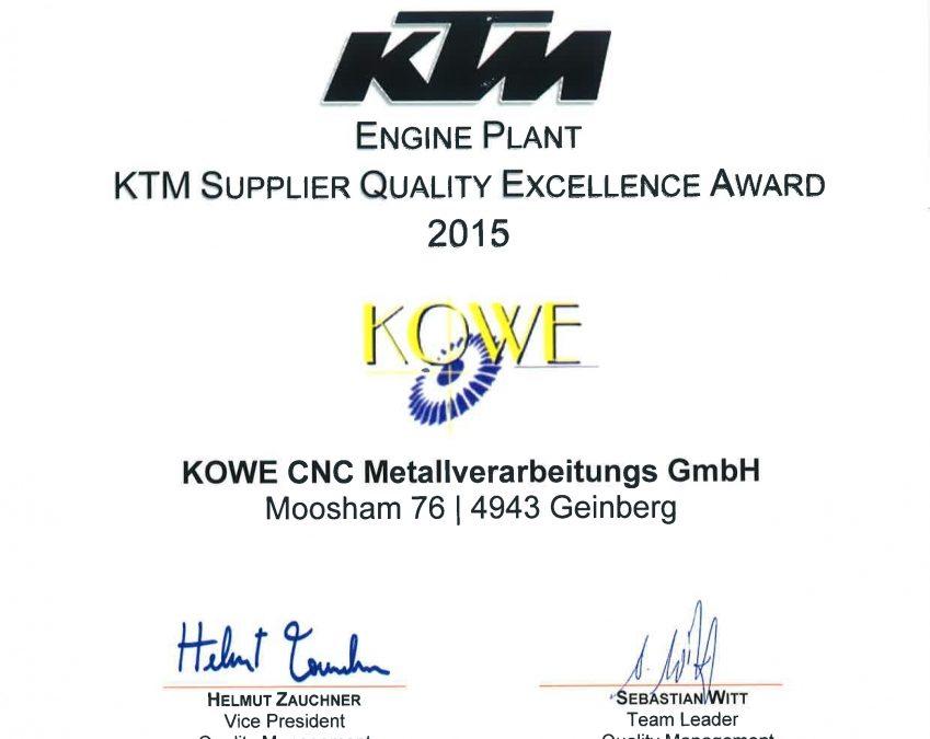 A+ Lieferant bei der KTM Group