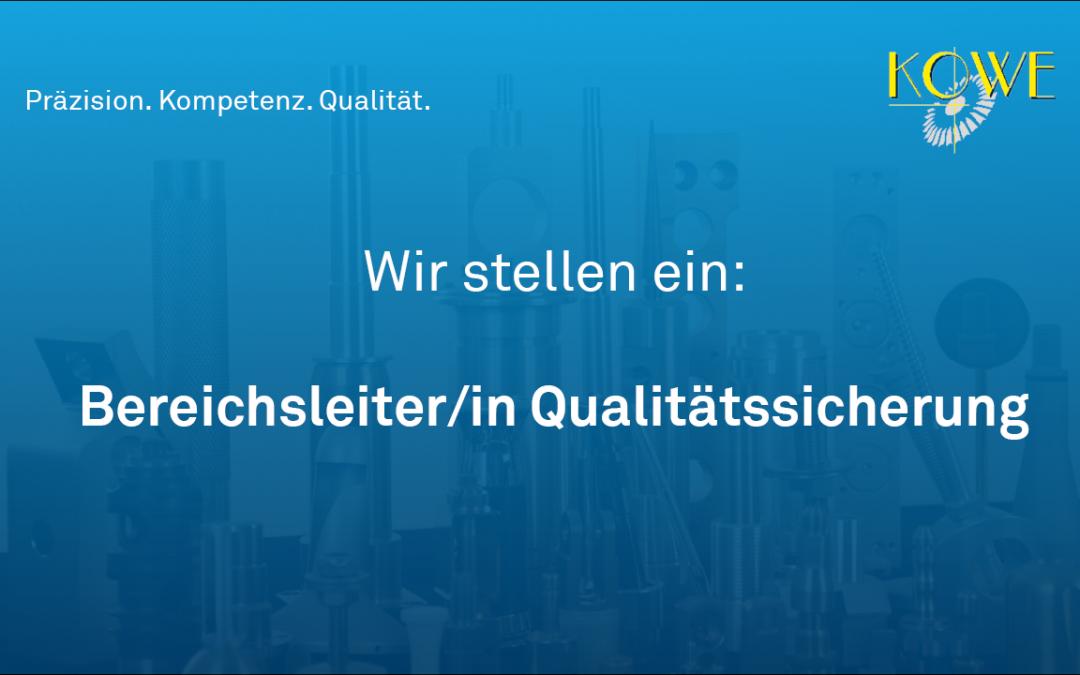 Bereichsleitung Qualitätssicherung (m/w)