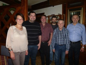 v. l. Erika Kobencic; Bernhard Walchetseder, Franz Denk, Christian Dunkl, Rudolf Mann, Siegfried Kobencic